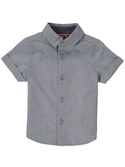 Boys Ss Cotton Shirt