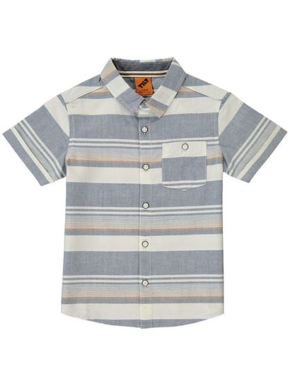 Boys Ss Stripe Shirt