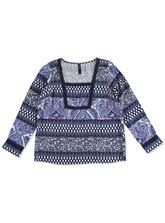 WR LACE PEASANT TOP WOMENS