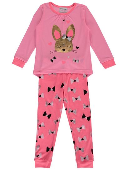 Girls Pyjama - Gold Bunny