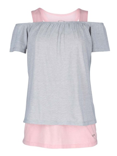 Elite 2-In-1 Bardot Tee Womens