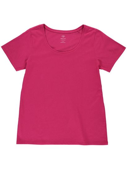 WOMENS PLUS ORGANIC COTTON SHORT SLEEVE TEE
