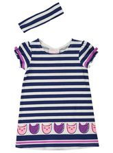 TODDLER GIRLS PRINT KNIT DRESS