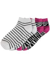 LOW CUT 2PK PATTERN SOCKS WOMENS
