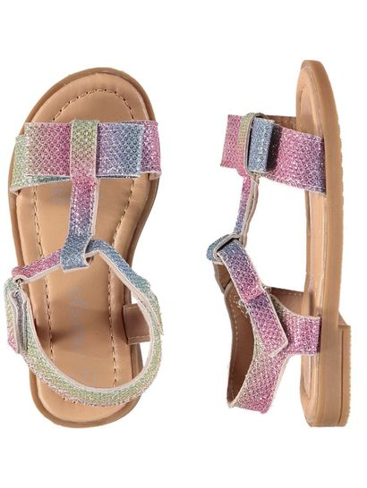 Toddler Girl Rainbow Glitter Sandal