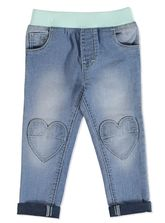 TODDLER GIRLS RIB WAIST DENIM JEAN