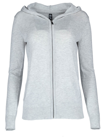Hooded Zip Through Cardi Womens