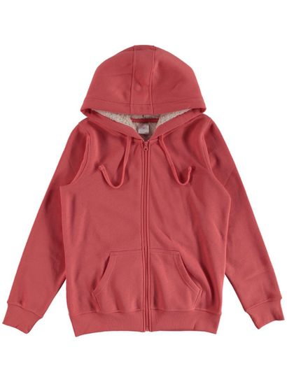 Sherpa Hood Fleece Jacket Womens