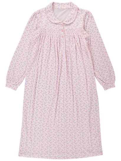 Traditional Knit Nightie With Collar Ladies Sleep