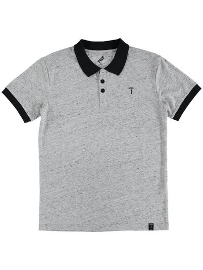 Boys Textured Polo Top