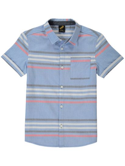 Boys Stripe Ss Shirt