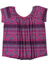PRINT GYPSY TOP WOMENS