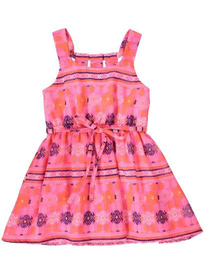 TODDLER GIRLS PRINTED GEORGETTE DRESS