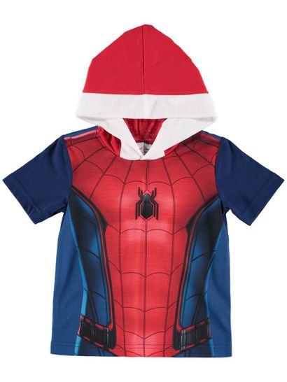 Boys Hooded Spiderman T-Shirt