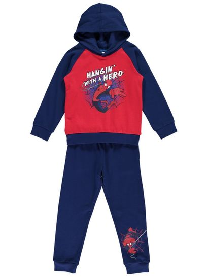 Boys Spiderman 2Pce Fleece Set