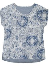 Plus Tile Woven Front Tee Womens
