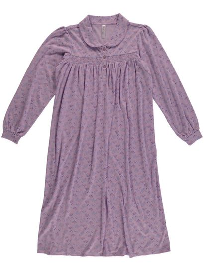 Traditional Knit Collared Nightie Womens Sleepwear