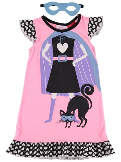 Girls Knit Nightie With Mask