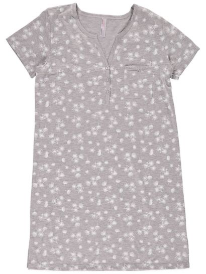 Henley Nightie Womens Plus Sleepwear
