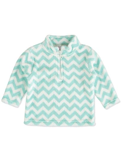 TODEDLER GIRLS CORAL FLEECE TOPS