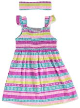TODDLE GIRLS SHIRRED KNIT DRESS