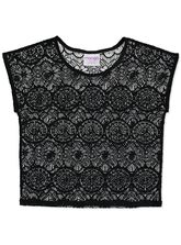 GIRLS LACE KNIT TOP