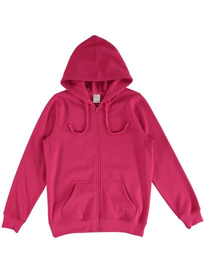 Plus Basic Fleece Zip Hoodie Womens