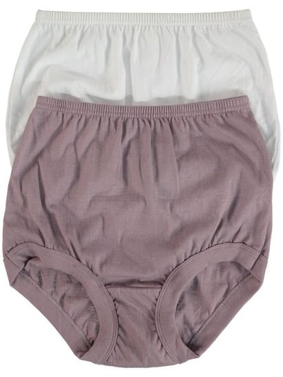 RIB LEG 2PK FULL BRIEF WOMENS