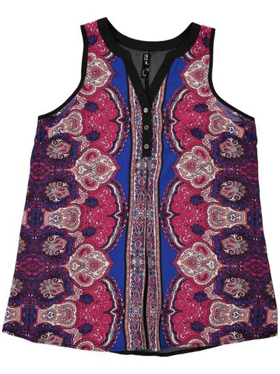 Paisley Button Tunic Womens