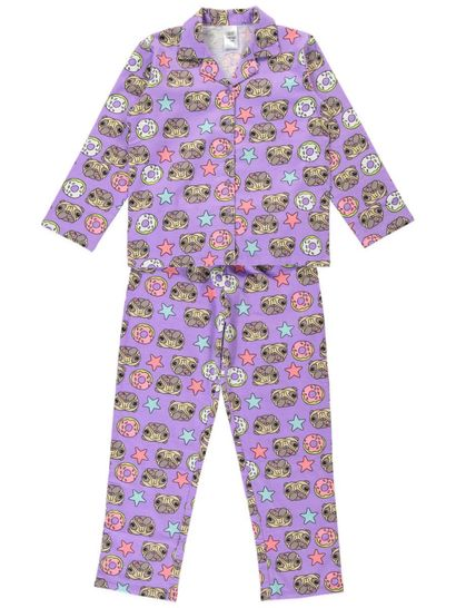 Girls Flannelette Pyjamas