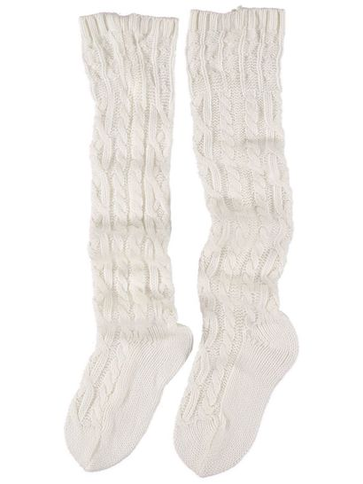Bed Sock Cable Knit Knee High Womens