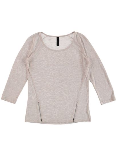 Zip Trim Lurex Pullover Womens