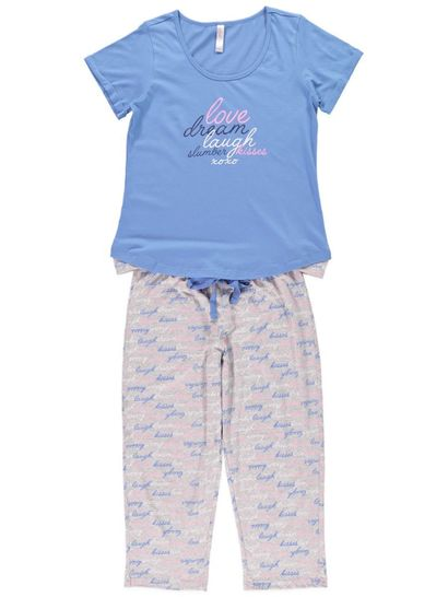 3/4 Length Jersey Pyjamas Womens Sleepwear