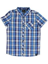 BOYS CHECK SS SHIRT