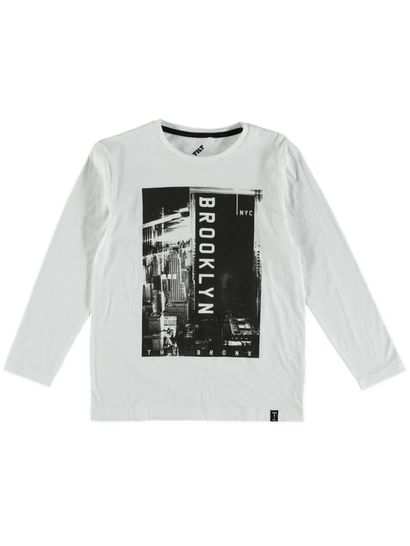 Bys Ls Photo Print Front Tee