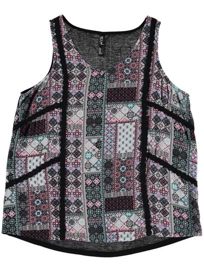 Lace Patchwork Tank Womens