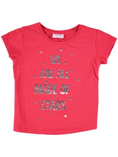 Girls Print Christmas T Shirt