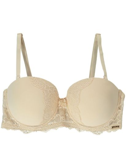 LACE TRIM STRAPLESS CONVERTIBLE BRA