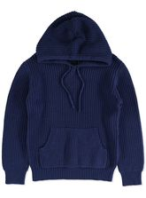 BOYS PLAIN KNIT PULLOVER HOODIE