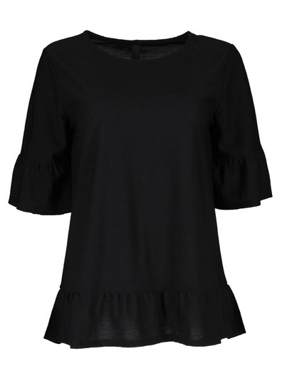 Plus Peplum Top Womens