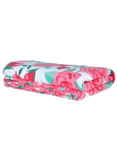 Print Coral Fleece Blanket