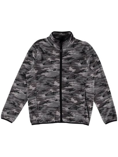 Mens Printed Polar Fleece Jacket