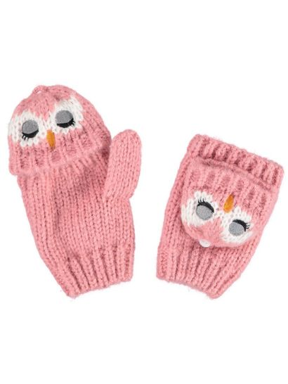 Toddler Girl Owl Glove