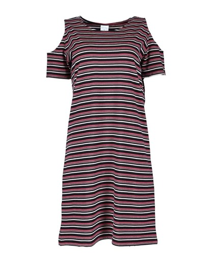Womens Cold Shoulder Tee Dress