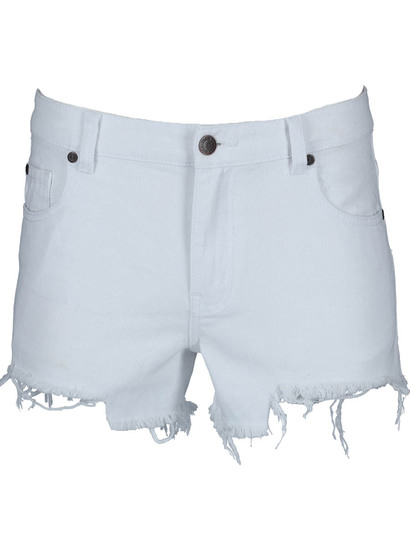 Miss Mango White Cut Off Denim Shorts