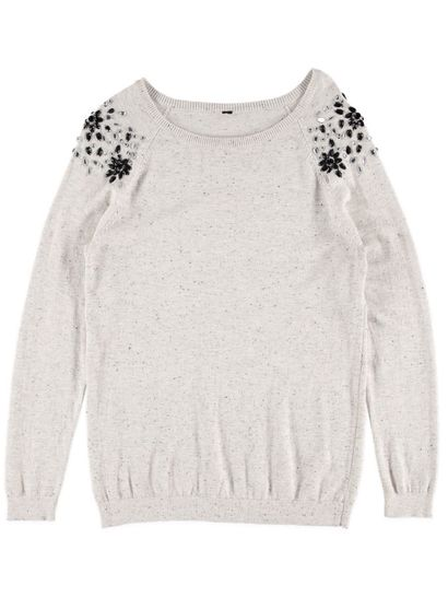 Nep Embellished Pullover Womens