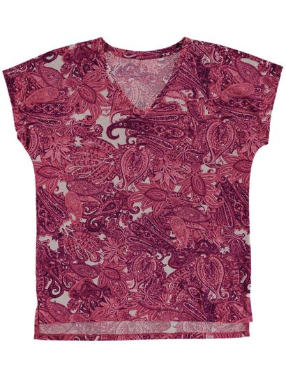 Plus Print Tee With Nailheads Womens