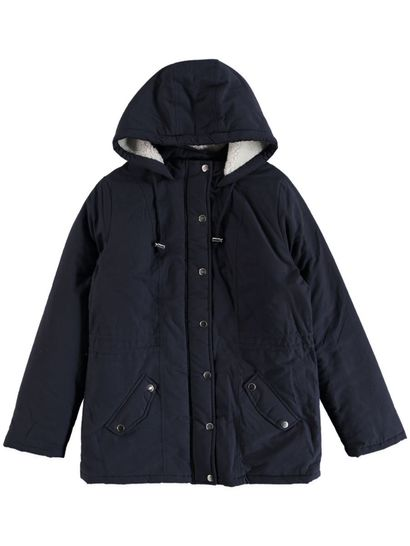 Plus Parka With Sherpa Lined Hood Womens