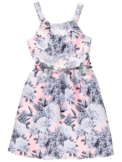 Girls Floral Scuba Dress