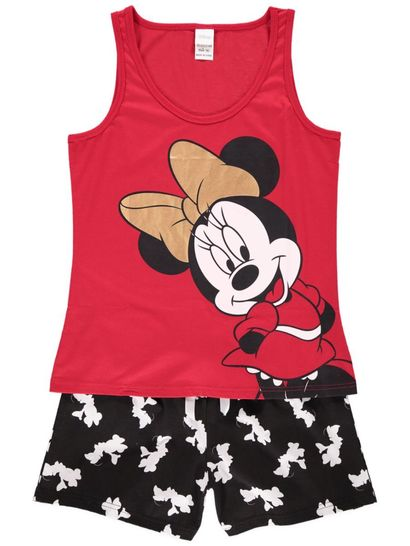 Minnie Mouse Pj Womens Sleepwear